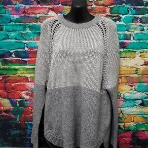 Beautiful Michael Kors silver Gray sweater XS